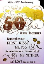 WIFE 50TH GOLDEN HAPPY ANNIVERSARY CARD 50 YEARS  Choice 5 by HALLMARK