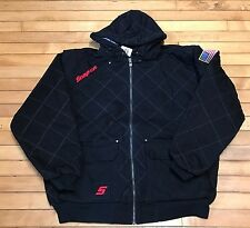 NEW Snap on Tools Mens XL,2XL,or 3XL Black Quilted Hooded Winter Coat Jacket NWT