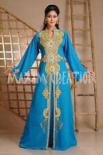 LADIES MAXI DRESS DUBAI CAFTAN ABAYA WEDDING GOWN ARABIC THOBE JALABIYA 3595A