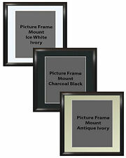Picture Frame Handemade Square Cushioned Black 40mm 3 Mount Options 18no Frames