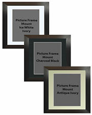 Picture Frame Handemade Square Brushed Black 55mm 3 Mount Options 18no Frame