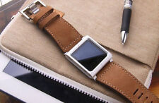LunaTik Leather Aluminum Watch Band Wrist Strap for iPod Nano 6th Black/Brown gn