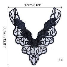 Collar Applique Floral Embroidered Lace Embroidered Neckline Lace Applique