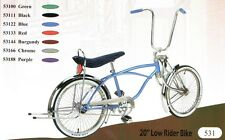 "New 20"" Lowrider bike with Bent fork 72 spokes wheels coaster brake"
