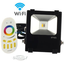 Wireless Touch Remote Controller LED 10W 2.4G RGBW Warm White Flood Light Kit