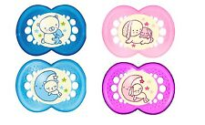 Mam Baby Soother Dummy Pacifier Teat Nipple 6 + Months 2 Pack Boy / Girl