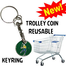 SHOPPING TROLLEY TOKEN TROLLEY'S £1 COIN KEY-RING LOCKER TOKENS TROLLEY