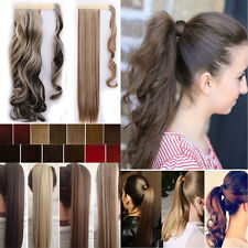 US blonde Clip In Hair Extension wrap around clip on ponytail accessories REST