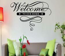 WELCOME TO OUR HOME FAMILY LIFE LOVE WALL QUOTE VINYL DECAL HOME DECOR FRIENDS
