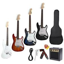 Beginners ST Electric Guitar+Gig Bag Pick Strap+3 Watt Amp+Free Ship New Gift