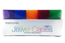 Memorex Slim Jewel Cases - Pack of 100 - Multi Color