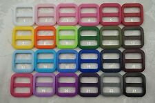 50x 3/4'' (19mm) - Wide Mouth Triglides Webbing Slides -Multi colors