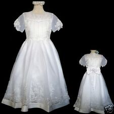 New Girl Wedding 1st Holy Communion Formal Party Dress White Size: 5 6 7 8 10