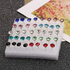 Clear/Multicolor Rhinestone Hot Earrings Ear Studs Jewelry Crystal Earrings