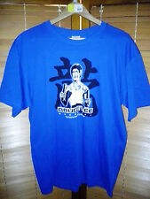 NEW! Bruce Lee Little Dragon Nunchaku Men's T-Shirt - Blue, Black & White - UFC