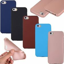 Hybrid Shockproof Slim Gel Rubber TPU Soft Case Cover Apple iPhone 5 6 6s 7 Plus