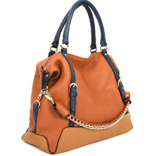 New leather HandBag Shoulder Women bag brown black hobo tote purse designer la24