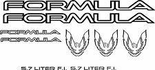 1985-90 Firebird Formula Decal SET 9 piece package