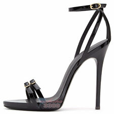 New Fashion Women Ladies Open Toe High Heels Stiletto Sandals Ankle Strap Shoes