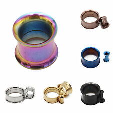 WOW 1Pc Stainless Steel Screw Ear Gauges Flesh Tunnels Plugs Stretchers Expander