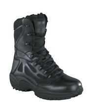 """Reebok RB8877 Rapid Response RB 8"""" Soft Toe Stealth Side Zip Boot"""