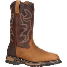 "Rocky 2732 Original Ride 10"" Branson Roper Pull On Western Style Work Boots"