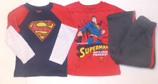 Superman Toddler Boys 3pc Set Long & Short Sleeve T-Shirts Pants Set Size 3T NWT