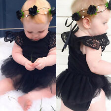 0-24M Lovely Baby Girls Kids Tutu Dress Romper Jumpsuit Bodysuit Clothes Outfits