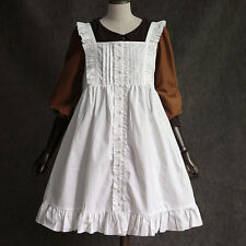 Sweet Lolita Vintage Gothic Fairy Cotton Cover skirt White Dress Mori Girls#YQ52