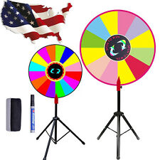 """Editable 24"""" Color Prize Wheel of Luck Fortune Spinning Game Trade Show Display"""