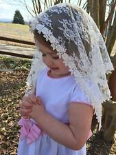 White or Ivory Veils and mantillas church chaple catholic Mass - small