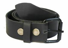 "Genuine Leather Snap on Belt Strap 1-1/2"" Wide Cow Hide  WN33G45"