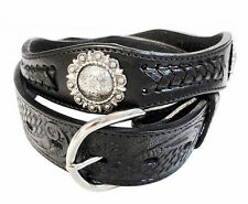 Western Cowboy Leather Berry Concho Belt Wholesale Snap on Belt 4152