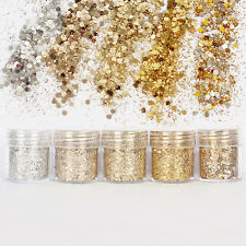 WOW Nail Glitter Dust Powder Sequins Sheets Tips Nail Art Manicure 3D Decoration