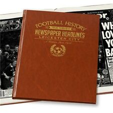 Personalised Leicester City FC Newspaper Football Book Fan Memorabilia Gift