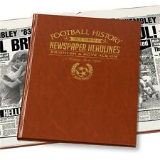Personalised Brighton FC Newspaper Football Book Fan Memorabilia Gift
