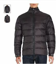 Saks Fifth Avenue - BLACK Moto Down Filled Puffer Jacket - 2XL MEN