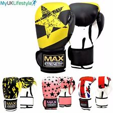 MAX Punch Boxing Gloves Martial Arts Kick Training Mitts Sparring Fight Pads MMA