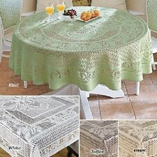 Crochet Lace Tablecloth 100% Cotton Handmade Dining Table Cover High Quality NEW