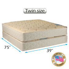 Dream Solutions USA Chiro Premier Orthopedic (Beige Color) Mattress and Box Set