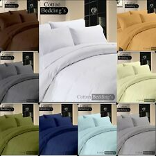 SALE - 1000 TC 100% Egyptian Cotton US Size Fitted/Flat/Sheet/Duvet Set in Solid