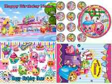SHOPKINS EDIBLE CAKE TOPPER ICING SUGAR SHEET OR CUPCAKES PARTY DECORATION