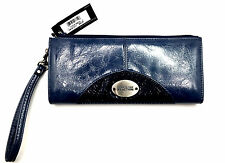 Kenneth Cole Reaction Womens Wallet Enveloppe Clutch Zipper with Strap