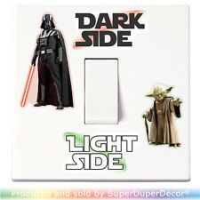 Star Wars Dark Light Side Switch Sticker vinyl decal lightswitch kids wall room