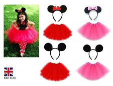 Kids Minnie Mickey Mouse Fancy Dress Halloween Costume TUTU EARS ACCESSORY SET
