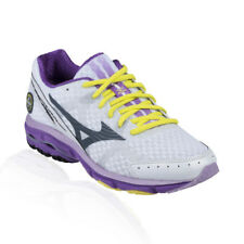 Mizuno - Wave Rider 17 Running Shoe - White/Dark Slate/Dewberry