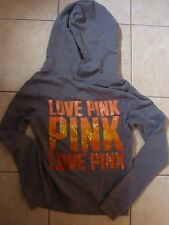 "VICTORIAS SECRET PINK SOLD OUT BLING OMBRE ""LOVE PINK""""PINK"" HOODIE NWT"
