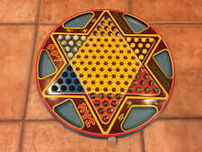 NORTHWESTERN  TIN LITHOGRAPH 1953 SAN LOO CHINESE CHECKERS MARBLES  2 IN 1 GAME