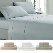 Luxury Hotel 100% Cotton Bed Sheet Set 400 Thread Count, Deep Pocket