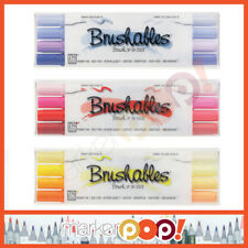 ZIG Memory System Brushables Marker Set Of 4 Purple Red Yellow